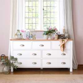Snowshill White Wide 7 Drawer Chest