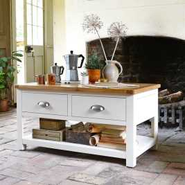 Sussex Painted Coffee Table With Drawers