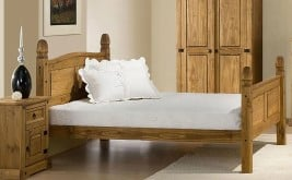Birlea Corona Wooden Bed with High Foot End