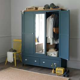 Westcote Blue Triple Wardrobe