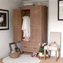 Wickham Washed Oak Double Wardrobe