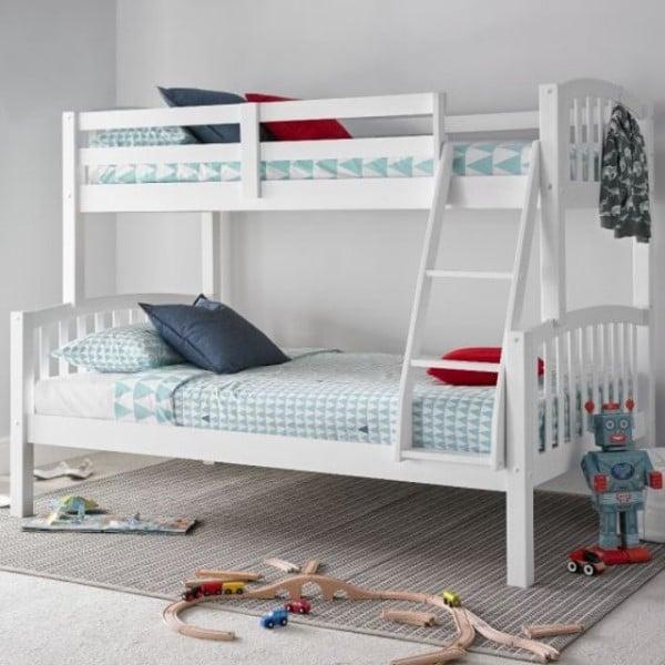 American White Wooden Triple Sleeper Bunk Bed Want Mattress