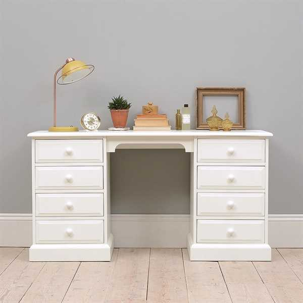 Burford Painted Double Pedestal Dressing Table