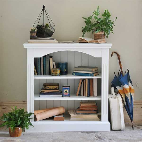 Burford Painted Small Bookcase 3 Shelves