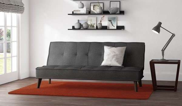 Cassia Grey Upholstered Sofa Bed