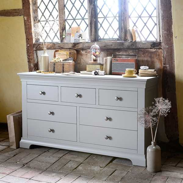 Chambery Grey Painted 3 Over 4 Chest