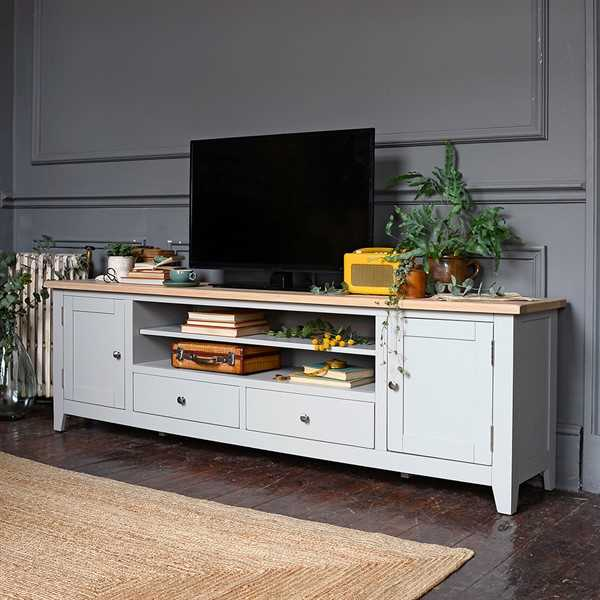Chester Grey Extra Large TV Stand
