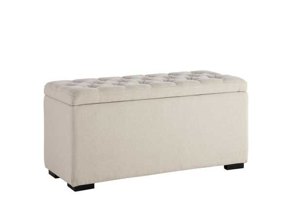 Deacon Upholstered Cream Storage Chest