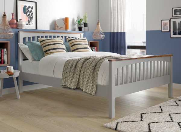Fleetwood Two Tone Wooden Bed Frame