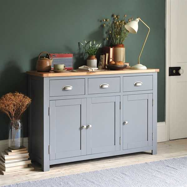 Florence Grey Large Sideboard
