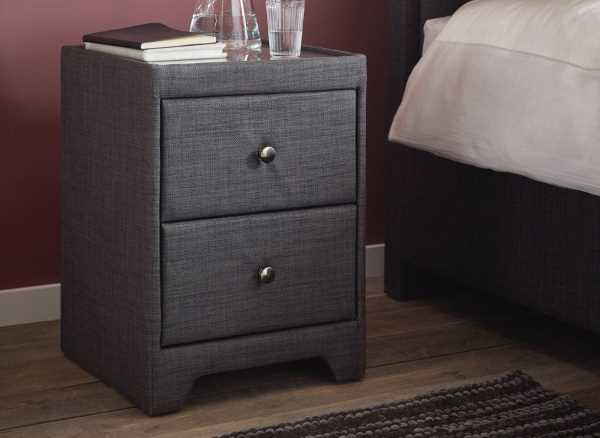 Kimberley 2 Drawer Slate Bedside Chest