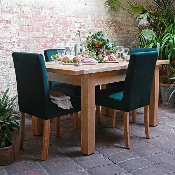 Light Oak 132-162-192cm Ext. Dining Table