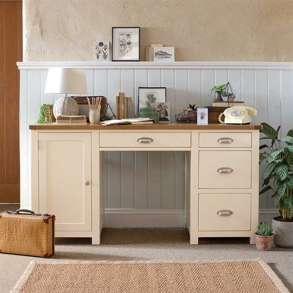 Sussex Painted Double Pedestal Desk