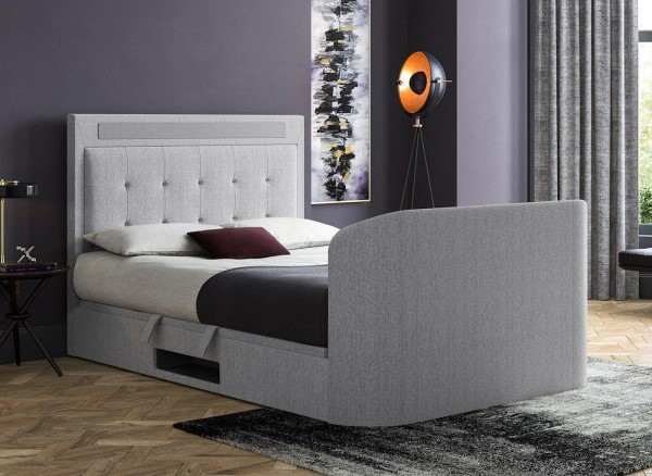 Tokyo Upholstered Tv Bed Frame With, Queen Size Tv Bed