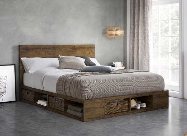 Wilkes Wooden Storage Bed Frame Want