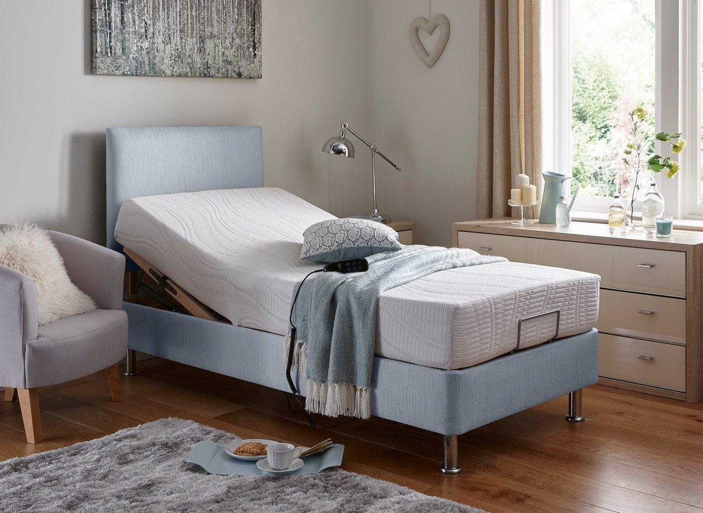 Fontwell Mattress With Standard Grey Adjustable Divan Bed - Firm